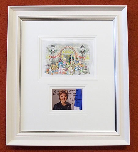 Framed First Minister's Christmas card
