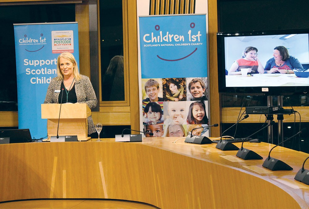 Alison Todd addressing parliamentary reception
