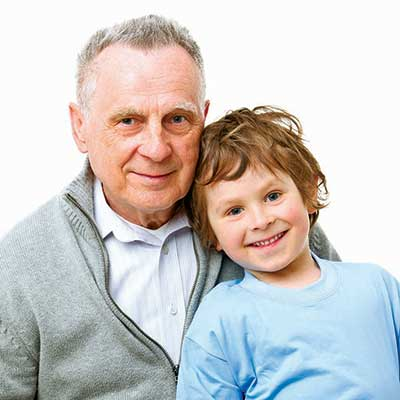 Kinship care grandad and grandson