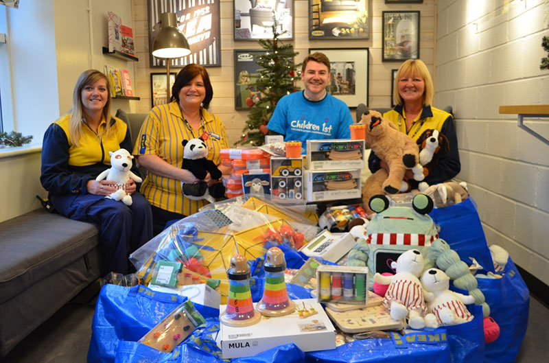 IKEA staff donate toys to Children 1st