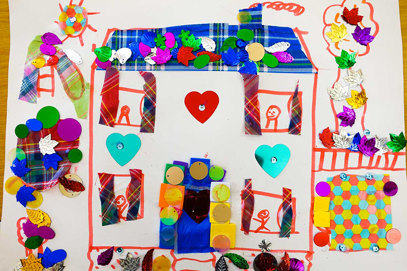 Artwork created by kinship care families