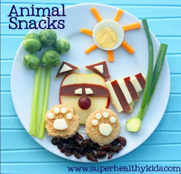 Healthy animal-shaped food