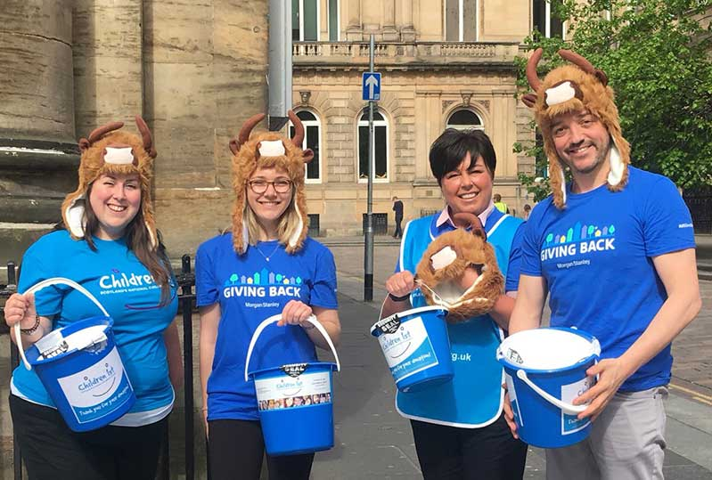 Morgan Stanley staff fundraising for Children 1st