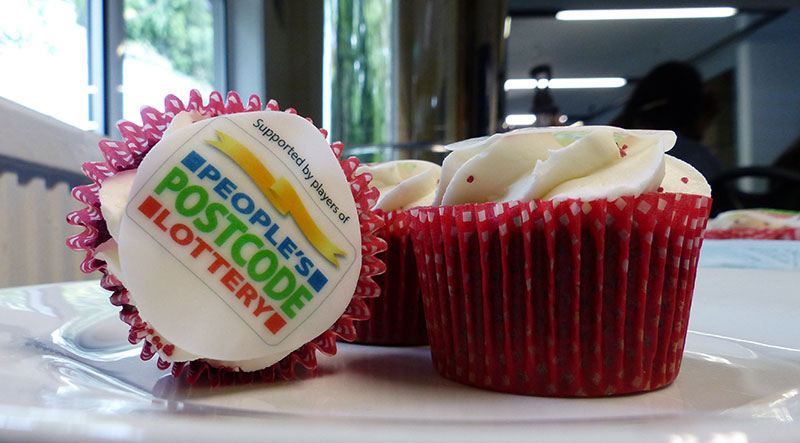Cupcakes with People's Postcode Lottery branding